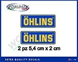 KIT AUTOCOLLANTS OHLINS sticker 2 PIECES Moto GP, WSBK, Cross F1 RALLY suspension