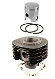 Kit cylindre 220cc AC, Cylindre en fonte grise, axe de piston Ø 18mm pour Piaggio APE 190 MP P501 MPR2T ...
