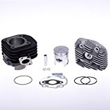 Kit cylindre Polini 166.0076 70cc AC, Kit Minarelli 70cc horizontal AC GG Polini pour Adly Silver Fox 50   Adly ...