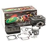Kit cylindre Top Performances 70cc AC, Cylindre en fonte grise Black Trophy pour Aprilia Habana 50 TFA - Piaggio Motor ...