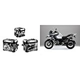 Kit Full Stickers Malette/bauli aluminium bMW gS 2 à version camouflage | BMW Decal Stickers Trunks ba-001 Black & White