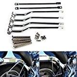 Kit Support Barre Vis Bracket Siège Selle Mount Outil Pour Harley Davidson Touring Honda Moto