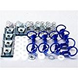 Kit vis dzus Ø19mm pro-bolt alu bleu boucle demi-cercle - Pro-bolt 530031B