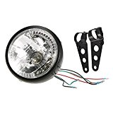 KKmoon 7 Inch Phare de Moto Indicateurs Signal LED Clignotants Jaune Léger avec Support