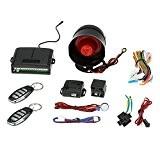 KKmoon Protection Contre le Vol Antivol Système Alarme 1-way Voiture Véhicule Sécurité avec Télécommande 2 Sirène