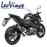 LeoVince Échappement homologué avec embout en carbone pour Kawasaki Z7502008,noir