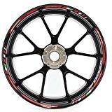 Liserets de jantes SpecialGP Moto Aprilia Shiver 750 Rouge Autocollants