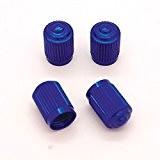 Lot de 4 bouchons de valve en Alu pour pneus de vélo, moto, voiture - Ref05 - Bleu