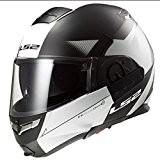 LS2Casque de Moto, Noir Mat/Blanc, M