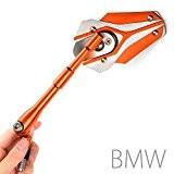 Magazi rétroviseurs Viper orange + argent pour moto BMW M10 x 1.5 adaptateurs