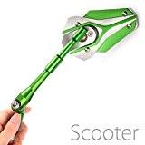 Magazi rétroviseurs Viper vert + argen tpour moto scooter M8 x 1.25 adaptateurs