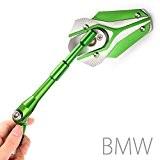 Magazi rétroviseurs Viper vert + argent pour moto BMW M10 x 1.5 adaptateurs
