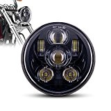 "MICTUNING 5.75"" 45W Projecteur Phares Avant LED CREE Moto Rond Daymaker pour Harley Davidson"