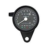 Mini compteur kilométrique Indicateur de vitesse avec témoins de contrôle LED pour Moto Harley Custom BMW Cafe Racer Scrambler Guzzi ...
