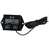 moteur - TOOGOO (R)moteur LCD numerique compteur horaire indicateur tachymetre Tach pour les velos de course noir