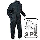 Moto Vetements Anti Pluie Scooter Sport Pantalon Blouson 2 Pieces Nylon noir L