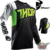 Motocross T-shirt Maillot en jersey Noir Vert Thor Pulse actif Offroad S M L XL 2x L