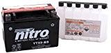 NITRO YTX9-BS -N- Batterie Moto AGM Ouvert avec Pack Acide