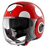 Nouveau casque jet moto scooter Shark Nano Coxy Rouge Blanc idée cadeau taille m