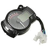 Numerique Compteur - TOOGOO(R)Universel Moto Tachymetre Numerique Compteur Vitesse Jauge Indicateur Retro-eclairage