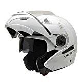 NZI Verti Casque de Moto, Blanc Brillant, 64 (XXXL)