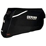 OXFORD PROTEX PREMIUM COUPE EXTENSIBLE EXTÉRIEUR HOUSSE PROTECTION MOTO - Noir, Medium