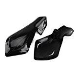 Pair Noir Protection couvre mains concu pour guidon barre diametre 22mm Moto Scooter Gauche Droite