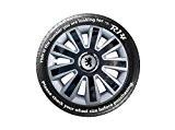 Peugeot 107réplique 4x 14de 4enjoliveurs de roue Noir & Argent Veuillez vérifier votre taille avant de passer Commande
