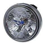 """Phare de moto - TOOGOO(R)7 pouces 7"""" moto 12V phare halogene rond H4 ampoule phare cote"""