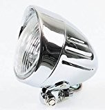 "Phare moto additionnel 4-1/2"" (11,5cms) diamètre modèle Grooved."