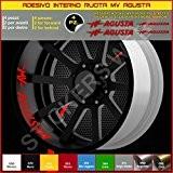 Pimastickerslab 0300 Autocollants pour jantes, rayures cercles pour MV Agusta F3F4Brutale Rivale - 031 Rosso