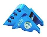 POLINI rehausse CNC 4trous bleu pour Benelli 491, 49x Quattro Novex 50, K250AC/LC