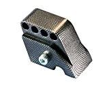POLINI rehausse CNC 4trous Look Carbone pour Vespa Primavera 502T/4T, S 502T/4T