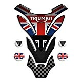 Protection de reservoir Moto MODELS en Gel compatible ,,Triumph U.K. flag Union Jack mod. DETROIT Top + 4 GRATIS 13x18cm,,