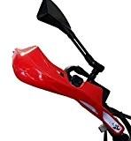 Protèges Mains en plastique rouge fente en aluminium universel pour motocycle 22mm