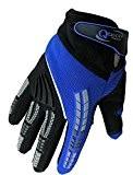 Qtech - Gants protecteurs pour MX/moto-cross/moto Trial - enfant - Bleu - XXS (env. 6-9 ans)