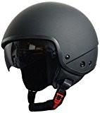 Rallox Helmets - Casque De Moto Jet Noir Mat Rallox 074 ( Xs S M L Xl ) Taille L