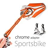 Rétroviseurs Viper orange fairing mount moto motorcycle sportbike CNC aluminum + base chromé