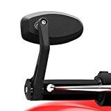Ryde Miroirs de Moto Universel en Noir pour Bout de Guidon - Diametre Interne de 13mm