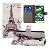 Semoss Retro Design Bling Strass Tour Eiffel Coque Cuir Étui Housse pour LG G2 Mini Portefeuille Case Cover Fonction Stand ...