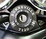 Serrure d'allumage d'allumage Schloß Bordure en aluminium Triumph Bonneville T120