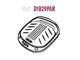 Shad d1b29par platine/grille universelle pour coffre SH29, noir