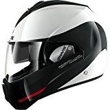 SHARK 102_6350_2 Casque Moto Evoline Serie 3 Hakka WKR, Noir/Blanc/Rouge, Taille L