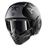 Shark Drak/Raw casque de moto à visage ouvert avec lunettes-Soyouz Tapis KSK