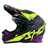 SHOT RACE GEAR - Casque cross Shot FURIOUS INFINITY LIME ROSE MAT - SHOT 2017 Rose 57/58 =M
