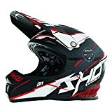 SHOT RACE GEAR - Casque cross Shot FURIOUS INFINITY ROUGE MAT - SHOT 2017 rouge 55/56 =S
