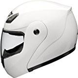 Shox Bullet Casque de moto relevable Blanc 59-60cm (L)