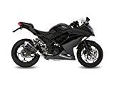 Silencieux d'échappement mivv GP acier inoxydable noir Kawasaki Ninja 300/Z300EX300, ex300ab ex300ab1, ex300ab1x
