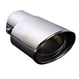 Silencieux - TOOGOO(R)Tuyau d¡¯echappement arriere queue embout silencieux en acier inoxydable de voiture chrome 62MM