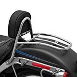 Sissy Bar + porte paquet Fehling pour Harley Davidson Fat Boy Special (FLSTFB) 10-16